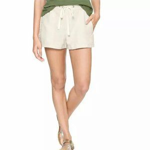 GAP Pull On Utility Shorts Flax Linen Cotton